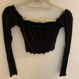 Forever 21 Ruffle Off the Shoulder Top